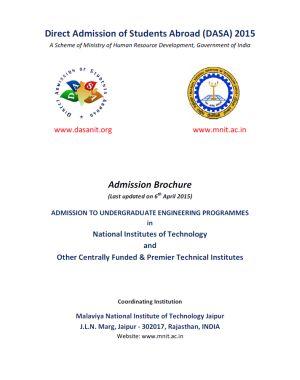 DASA – 2015 Admission Brochure - Previw