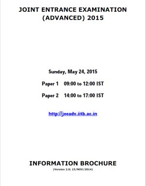JEE (Advanced) – 2015 - Previw
