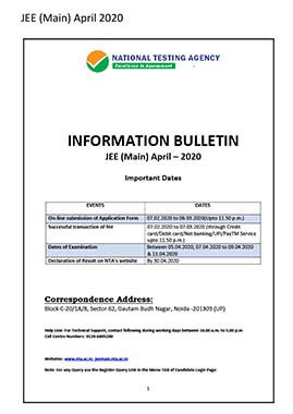 JEE (MAIN) April 2020 - Previw